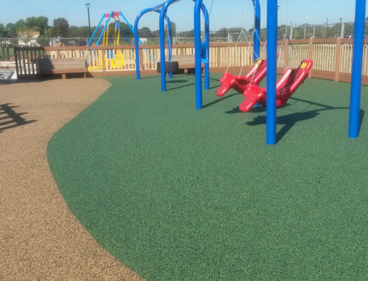 poured rubber playground