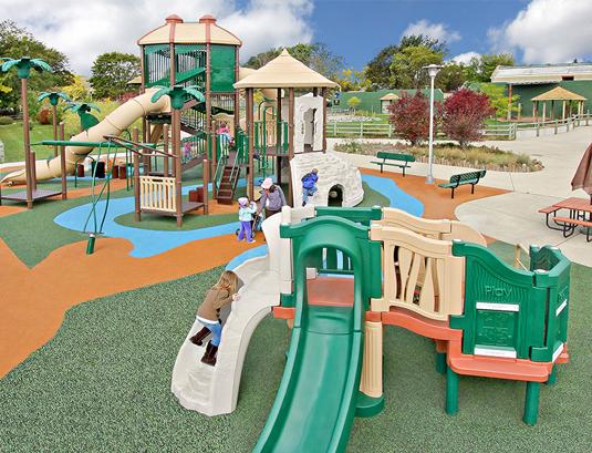playground with island theme